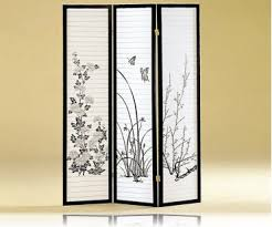 3 panel japanese oriental style room screen divider room dividers