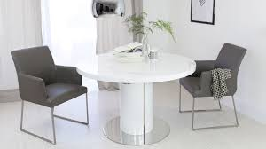White Gloss Extendable Dining Table Enchanting Round White Gloss Dining Table Coolest Home Design