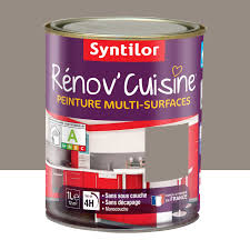 peinture melamine cuisine peinture rénov cuisine syntilor brun macaron 1 l leroy merlin