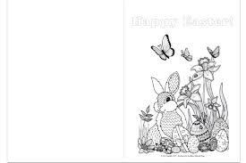 printable easter colouring pages easter card
