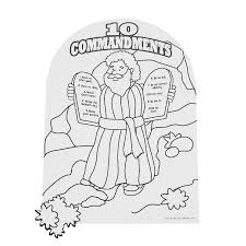 ten commandments coloring pages moses holding the stone tablets of
