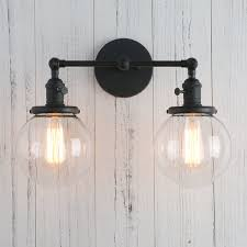 permo double sconce vintage industrial antique 2 lights wall