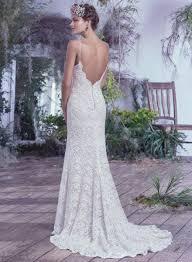 Wedding Dresses Maggie Sottero Illusion Neckline Spaghetti Straps Mermaid Lace Wedding