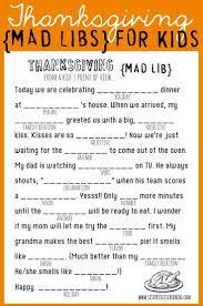 thanksgiving mad libs for printable via www