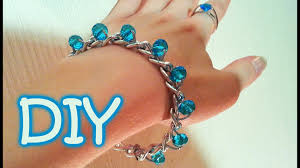 beads bracelet easy images Diy chain and beads bracelet very easy way to make a bracelet jpg