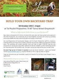 Build Your Own Backyard by Build Your Own Backyard Trap Tai Poutini Polytechnic