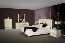 All Bedroom Furniture Modern Beige Lacquer Italian Bedroom Set