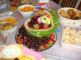 photo baby shower menu finger foods image