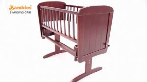 bambies deluxe gliding crib bmn001 youtube