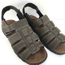 wrangler men u0027s leather straps open toe gray adjustable sandals