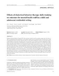 effects of dialectical behavior therapy skills training on