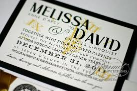 new years wedding invitations david clock theme new year s wedding invitations