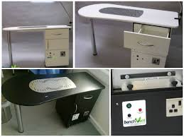 Nail Tech Desk by The Best Nail Manicure Desk Station With Extractor Benchvent Com
