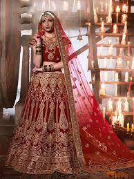 Bridal Wear Buy Rajasthani Bridal Ghaghra Online Maroon Bridal Wear Chaniya Choli
