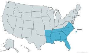 Southeastern United States Map by State Grant Maker Directories In 2016 The Southeast Grant Results