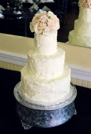 simple rustic buttercream wedding cake rose bakes