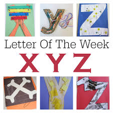 letter of the week x y z crafts and activities no time for