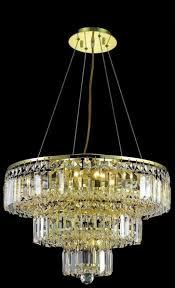 Elegant Lighting Chandelier Lighting 2036d20 Maxim 9 Light Crystal Chandelier