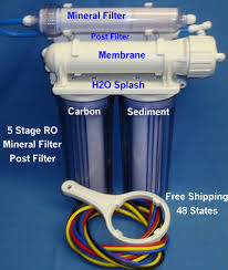 stage ro system mineral filter clear housing without tank