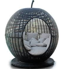 fruit shaped patio furniture igloo apple day bed lounger