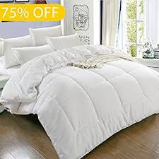 How To Make A Bed With A Duvet Amazon Com Superior Solid White Down Alternative Comforter Duvet