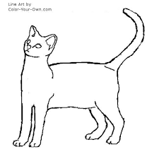egyptian kitten coloring