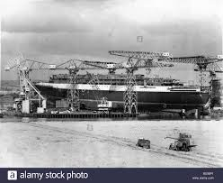 the queen elizabeth ii qe2 ship final touches to the ship in dry