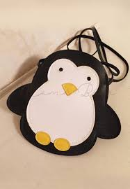 cute penguin print kids sling bag mamabearph