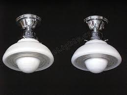 1940s kitchen light fixtures ufo ceiling light vintage mid century moderne
