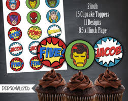 avengers cupcake etsy