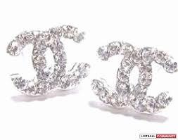 cc earrings 60 unique chanel cc earrings wedding idea