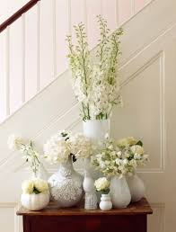 Flower Vase Decoration Home Foyer With White Flower Vases Decorating Your House Using Flower