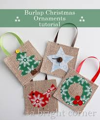 a bright corner burlap ornaments tutorial