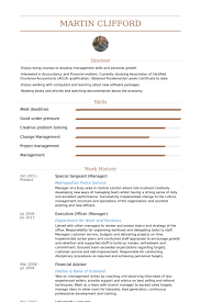 Branch Manager Resume Examples by Sergeant Resume Samples Visualcv Resume Samples Database
