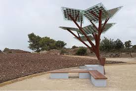 solar powered trees provide free wi fi cool water and more