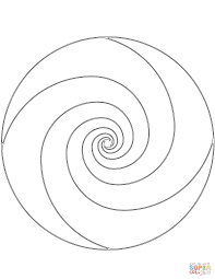 spiral mandala coloring page free printable coloring pages