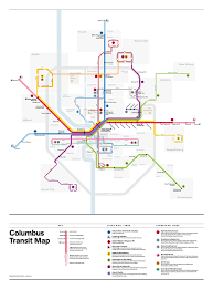 Zip Code Map Columbus Ohio by Fantasy Transit Maps Highway Railroad Major Florida Urban