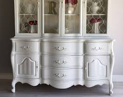 french country china cabinet for sale white china cabinet etsy
