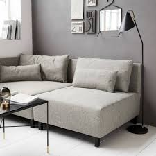 Floor Sofa by House Doctor Box Sofa Grey Melange Living And Co