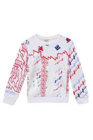 kenzo 3 6y barbapapa abstract sweater york mon