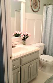 best ideas about bathroom wall cabinets pinterest painted year old oak cabinets with sherwin williams oyster bay