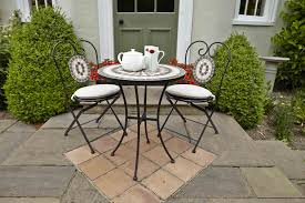 dining room enchanting dark wrought iron outdoor bistro set 3