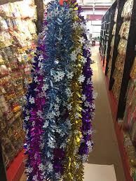 2m wired tinsel garland shiny decorative tinsel garland
