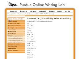 spelling rules ie ei exercise 4 5th 9th grade worksheet