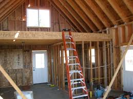 a frame house plans with loft small cabins with lofts loft framing loft after insulation and