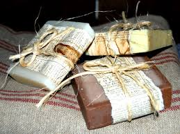 paper wrapped soap aged paper wrapped soap primitive crafts wraps