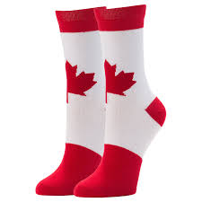 jyinstyle women u0027s casual canada flag crew socks amazon ca