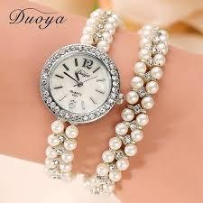 pearl bracelet watches images Duoya brand women bracelet watch women gold pearl jewelry steel jpg