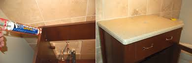 How To Install A Vessel Sink  Faucet - Bathroom vanity top glue