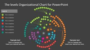 three levels organizational chart template for powerpoint slidemodel